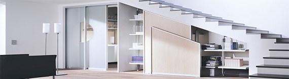 шкаф под лестницей купить, шкаф под лестницей